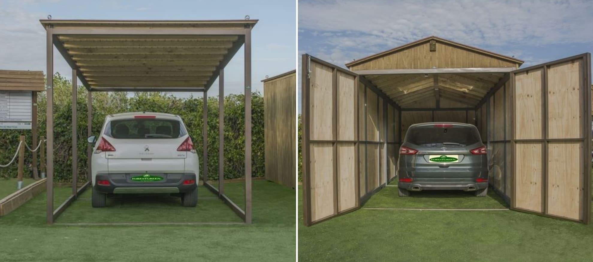 aparcamiento abierto y garaje Forestgreen